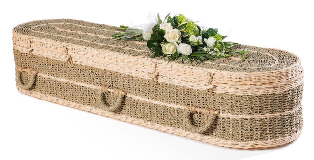 kist begrafenis mand gevlochten